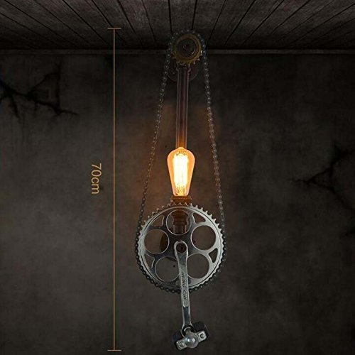 HOMEE Wall lamp- simple retro industry wind and iron wall lamp american bedroom bedside lamp aisle wall lamp --wall lighting decorations by HOMEE