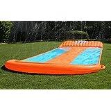 Outdoor Triple Inflatable Water Slide Big Splash Spit Kids Play Backyard Pool + eBook