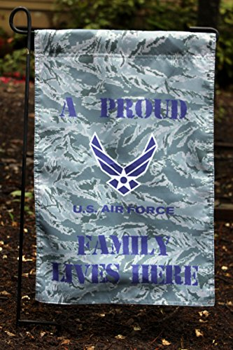 U s air force proud family lives here 13x18 garden flag for Decor 6 form air force