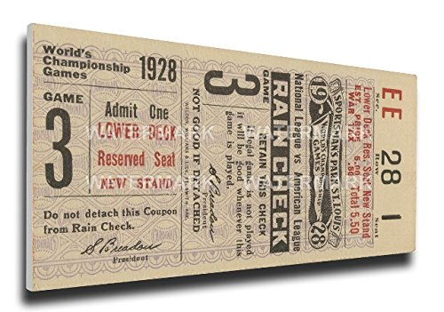 MLB St Louis Cardinals 1928 World Series Mega Ticket (Stl Cardinal Tickets compare prices)
