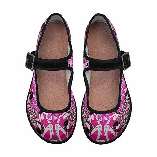 InterestPrint Womens Comfort Mary Jane Flats Casual Walking Shoes Multi 16 0vl5AqT8