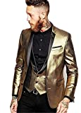 Everbeauty Men's Vintage Tuxedos Suits For Formal Occasion Blazer Jacket