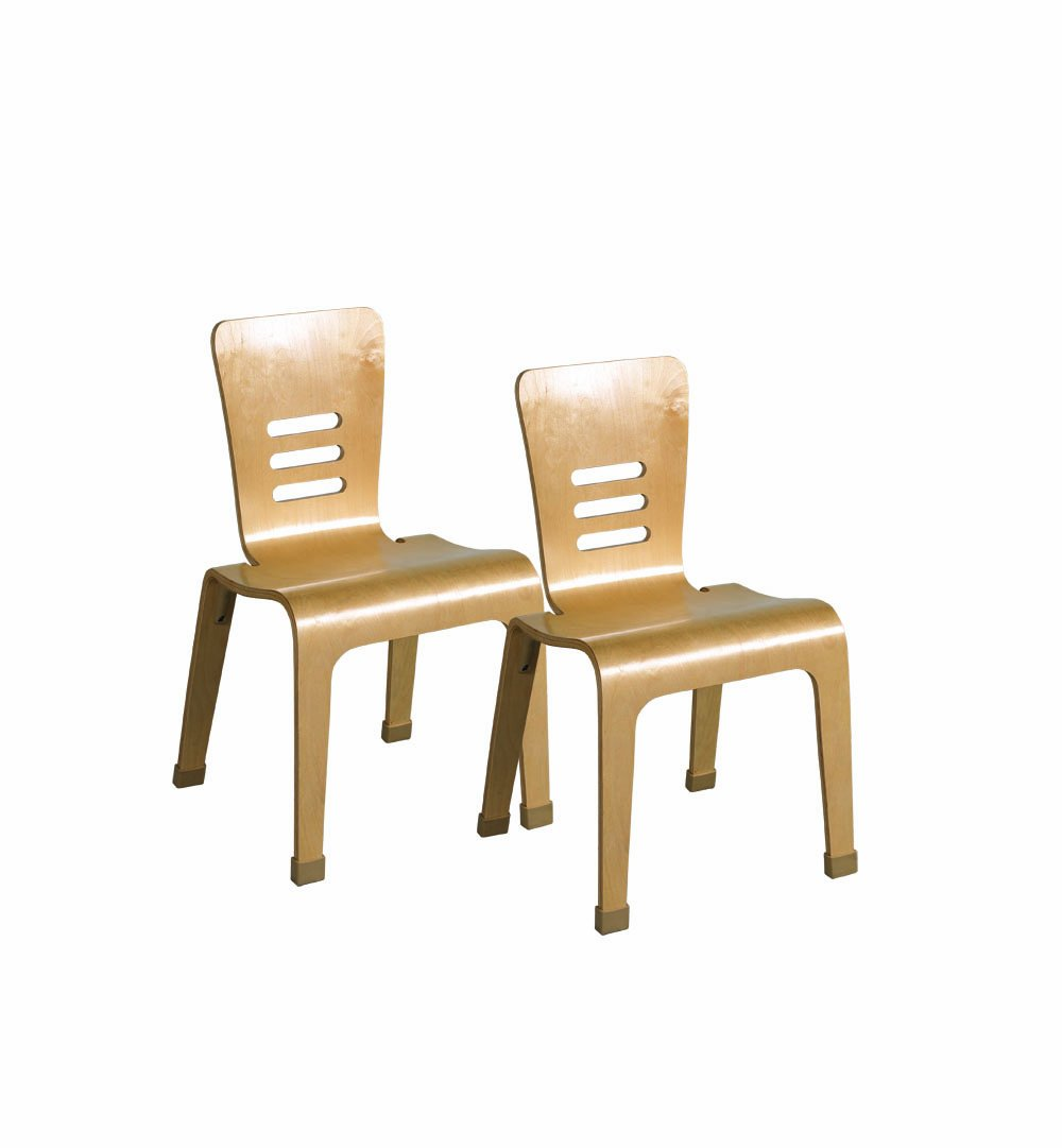 ECR4Kids 16'' Bentwood School Chair for Students, Natural (2-Pack)