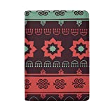 Africa Art Colorful Leather Passport Holder Cover Case for Travel Men and Women