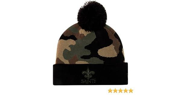 e4b089cda00 Amazon.com   New Era Nfl Beanie Woodcamo Black green New Orleans Saints  Unisex Hat   Sports Fan Baseball Caps   Sports   Outdoors