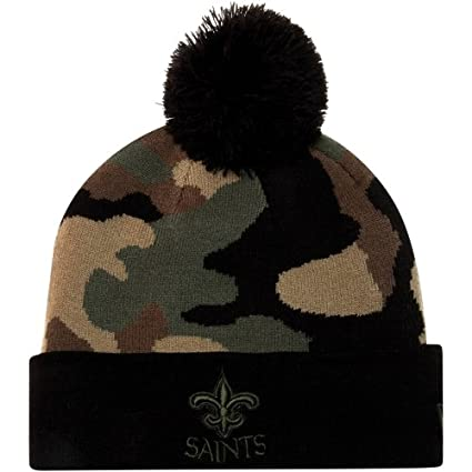 bf62edc5dda Image Unavailable. Image not available for. Color  New Era Nfl Beanie  Woodcamo Black green New Orleans ...