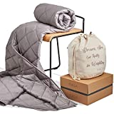 Inala Weighted Blanket for Adults and Kids - 20 lbs, 100% Cotton, Grey - Queen Size Heavy Comforter