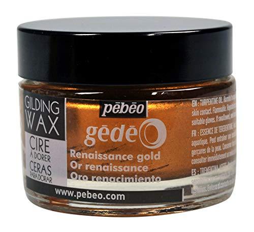 Pebeo Gedeo, Gilding Wax, 30 ml Bottle - Renaissance Gold