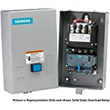 Siemens 14CUC32BA Heavy Duty Motor Starter, Solid State Overload, Auto/Manual Reset, Open Type, NEMA 1 General Purpose Enclosure, 3 Phase, 3 Pole, 0 NEMA Size, 3-12A Amp Range, A1 Frame Size, 110-120/220-240 at 60Hz Coil Voltage