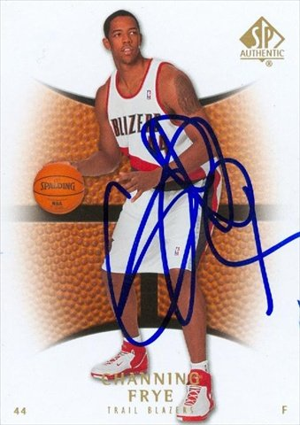Autograph Warehouse 43851 Channing Frye Autographed Basketball Card Portland Trail Blazers 2008 Sp Authentic No .2