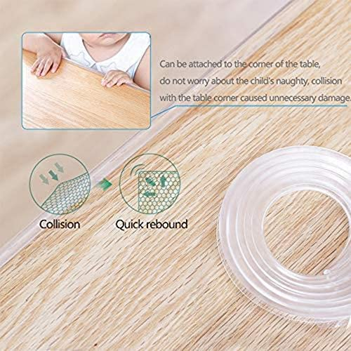 Safe Edge /& Corner Cushion Child Safety Furniture Bumper KIDDYz Transparent Baby Proofing Edge /& Corner Guards Clear Pre-Taped Corners Table Protectors