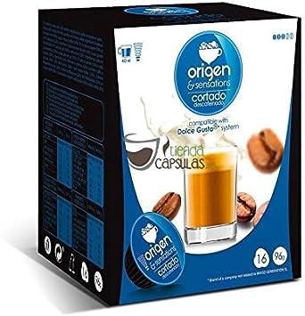 Origen And Sensations Cortado Descafeinado Origen Sensations 16 Cápsulas Compatibles Dolce Gusto Amazon Es Alimentación Y Bebidas