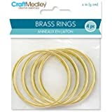 """CraftMedley Brass Rings, 2in, Round, 4-Piece, WR101, 2"""""""