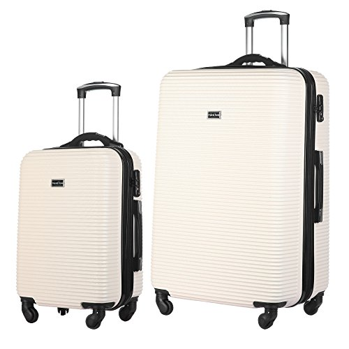 a10f96b820ab 2 PC Luggage Set Durable Lightweight Hard Case Spinner Suitecase ...