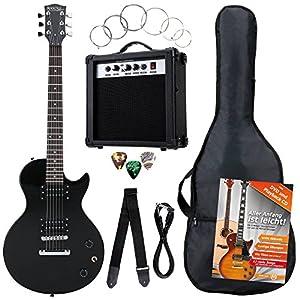 Rocktile Banger's Pack Komplettset E-Gitarre Single Cut Schwarz (Verstärker, Tasche, Kabel, Gurt, Plecs, Ersatzsaiten…