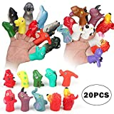 Dinosaurs and Animals Finger Puppets Set Party Favors/Finger Puppets Family Game/Story Time/Novelty Toys for Kids,20Pcs