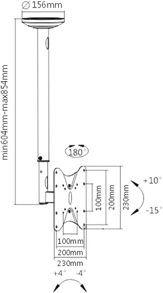 TV Televisor LCD TFT Monitor de Techo Soporte D3 23 – 42 Pulgadas ...