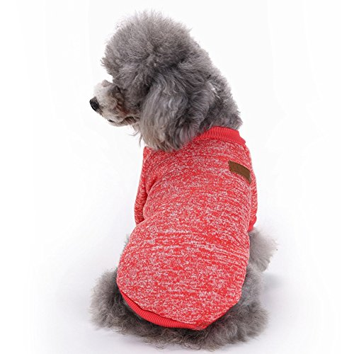 Dora Bridal Pet Dog Autumn Winter Warm Classic Sweater Coat Puppy Soft Fleece Knitwear Clothes Dog Cat Apparel for Cold Weather Dog Climate Changer Fleece Jacket