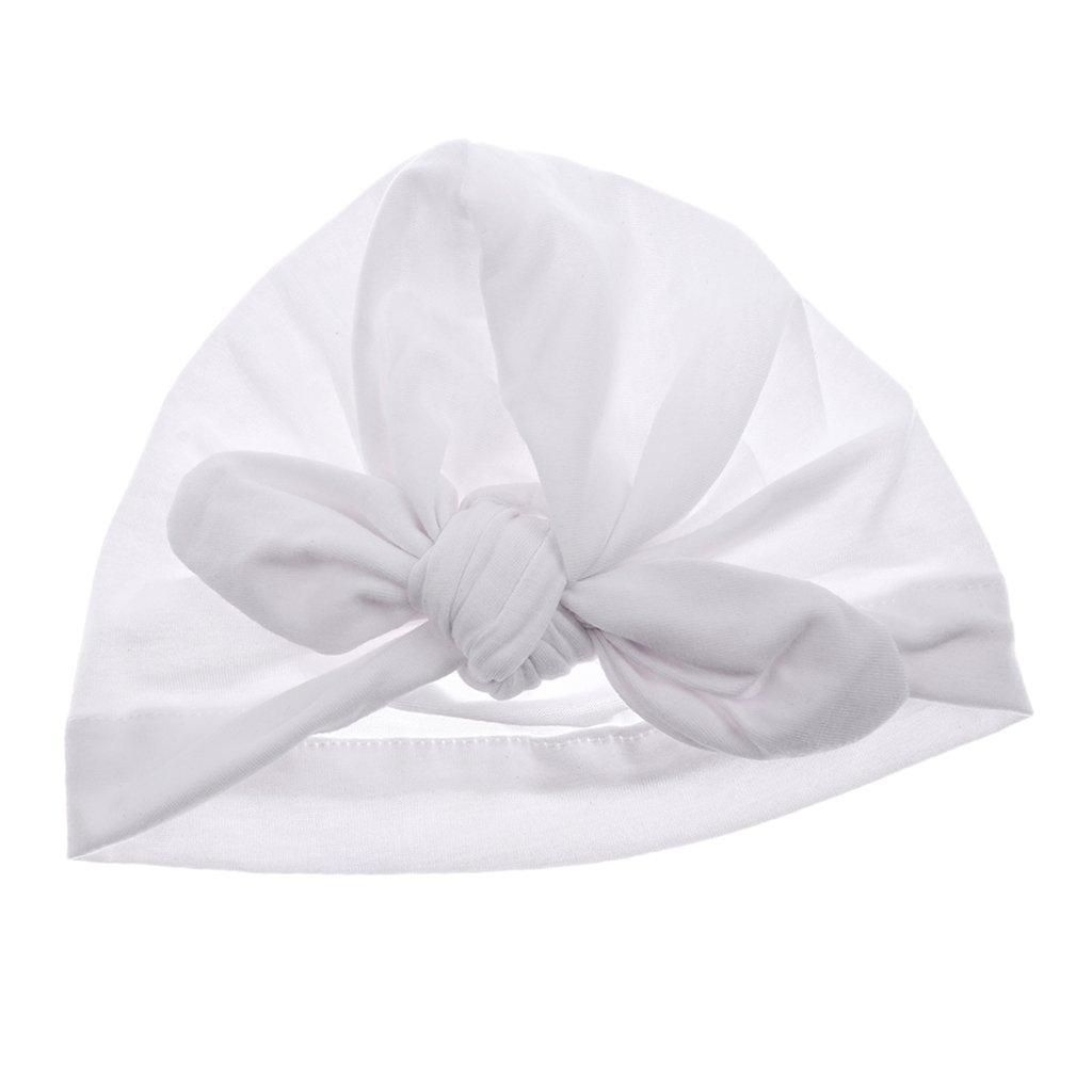 Sharplace Bonnet Bébé fille Naissance Bowknot Hemming Chapeau Photographie  Coton Doux Chaud - Blanc, 0-6 ans  Amazon.fr  Vêtements et accessoires ee0a2b9f674