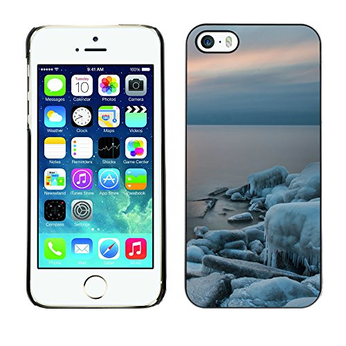 Premio Sottile Slim Cassa Custodia Case Cover Shell // F00030298 Silence de glace // Apple iPhone 5 5S 5G
