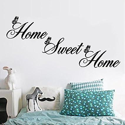 Adesivi Murali Home Sweet Home.Topgrowth Adesivi Murali Home Sweet Home Adesivi Decorativi Da Parete Fai Da Te Removibile Wall Sticker Amazon It Fai Da Te