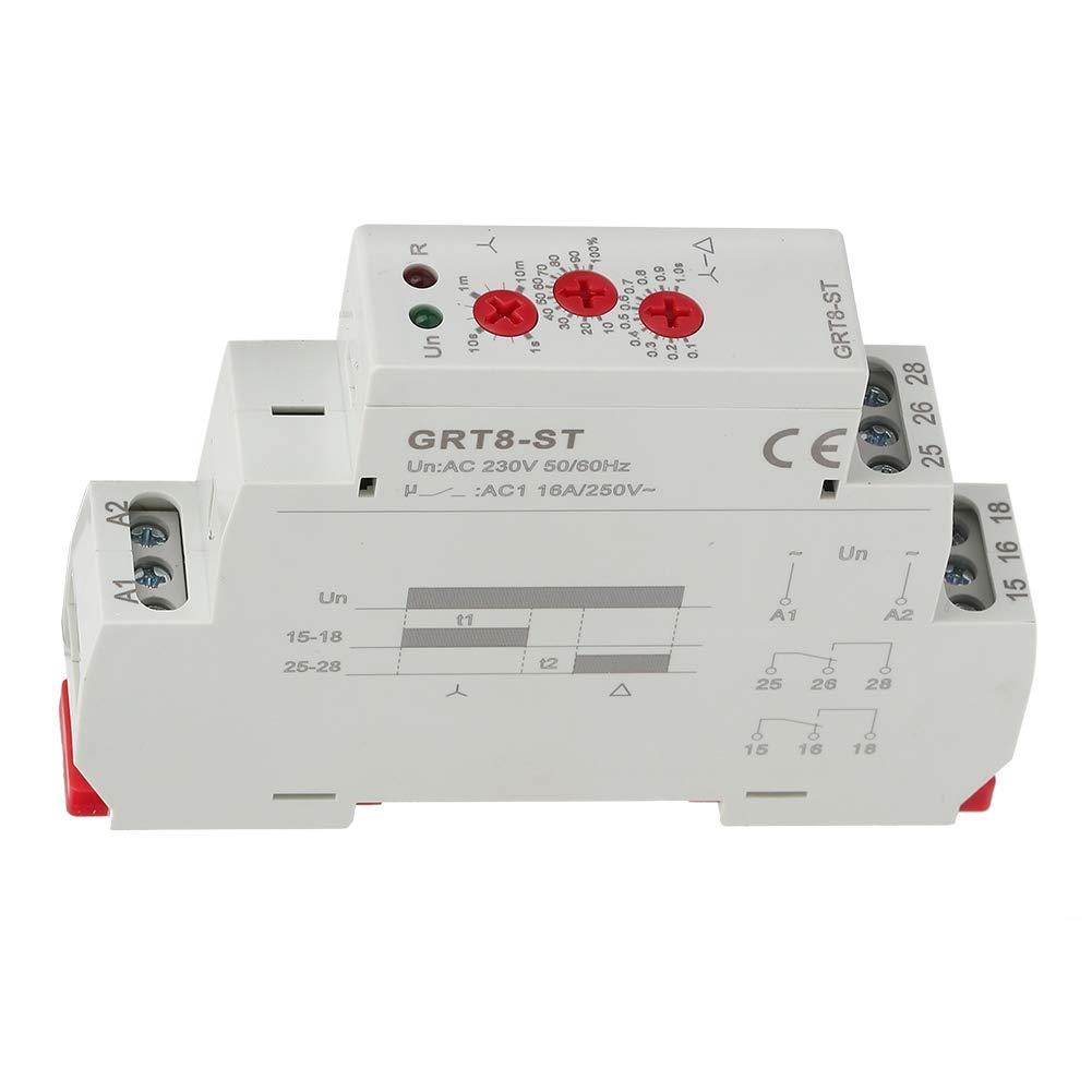 d/épart-moteur GRT8-ST /à relais temporis/é pour moteur /étoile-triangle AC//DC12V~240V Relais temporis/és