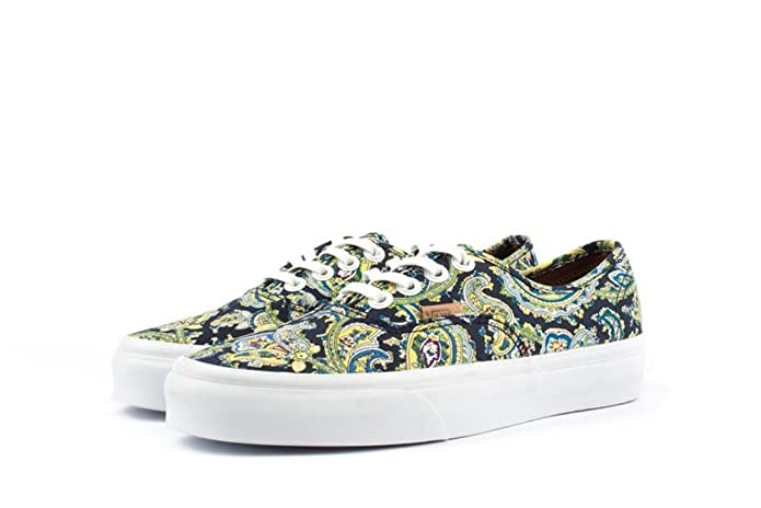 e3ceb4e5462777 Amazon.com  Vans Unisex Authentic Paisley Skate Shoes-Paisley Dress  Blues-5-Women 3.5-Men  Shoes