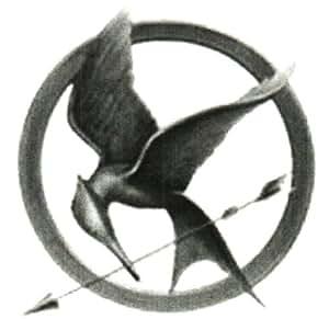 "Hunger Games Mockingjay Temporary Tattoo (Set of 5) 2 5/8"" x 2 5/8"" round"