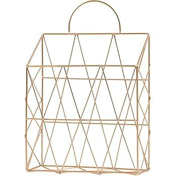 Amazon Com Aiyoo File Holder Metal Organizer Gold Wire