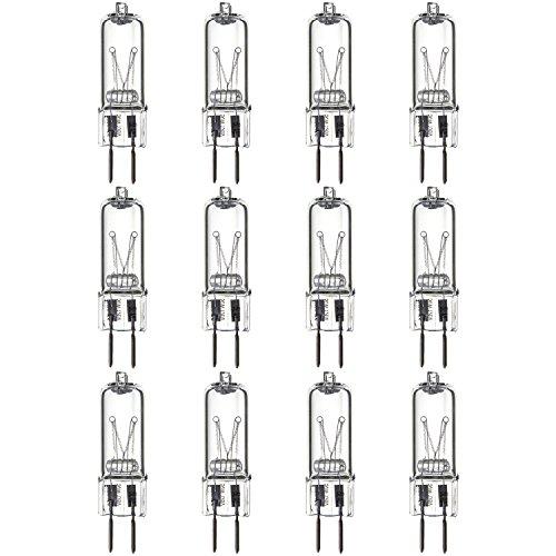 Sunlite Series Q50/CL/GY6/120V/12PK Halogen 50W 120V Q50 Single Ended Capsule Light Bulbs, Clear Finish, 3200K Bright White GY6.35 Base, 12 Pack