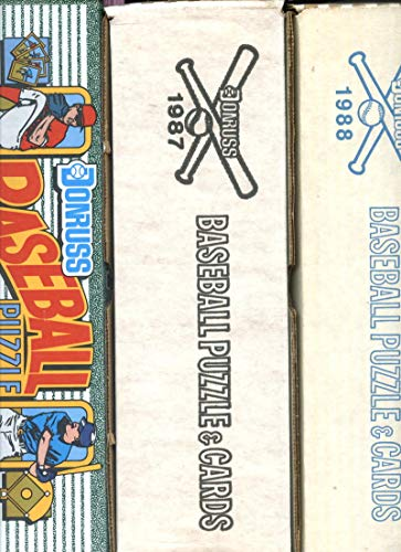 1987 1988 1990 Donruss Baseball Card Complete set FACTORY BOX Collection SEALED