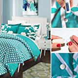 How Much Bigger Is a Queen Than a Full PinionPins - Patented Magnetic Duvet Clips - Stronger Than Traditional Bedding pins - Use as Duvet Donuts, Comforter Pins, Curtain or Drape Pins, or to Secure Upholstery! (8, Cloth)