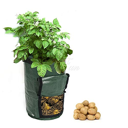 Yard Waste Bags Organic Composting Vegetable Bag Growing Bag for Potatoes Waste Kitchen Leaf Garden Bag Pocket Yard Compost Bag Cloth Planter