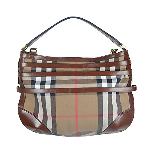 16ddaecb00ca Burberry Bridle Housecheck Small Dutton Hobo Bag Dark Tan - Buy Online in  UAE.