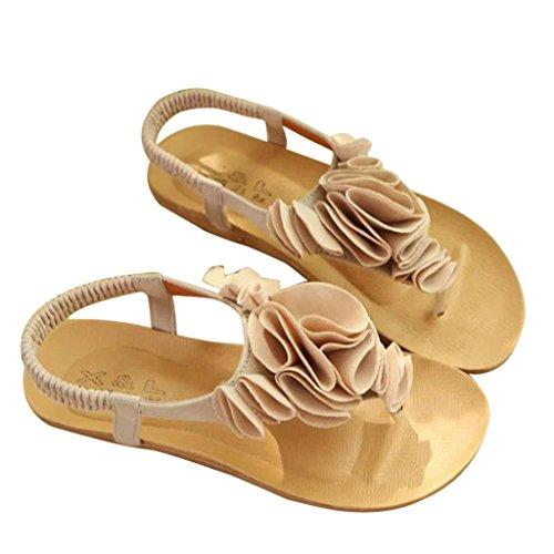 Summer Flip Footwear Shoes Wedges Summer Beige Sandals Beach Ankle Flop Bovake Lovely Flat Women Bohemia Sweet Sandal Heels Toe Strap Sandals Buckle Bohemia Shoes Clip Sandals Ladies Shoes dwPSqgyxn