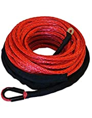 """Ranger 6,000 LBs 3/16"""" x 50' Synthetic Winch Rope 5 MM x 15 M for ATV Winch"""
