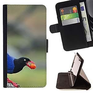 Ihec-Tech / Negro Flip PU Cuero Cover Case para LG G2 D800 - Bec Berry Nature Bleu