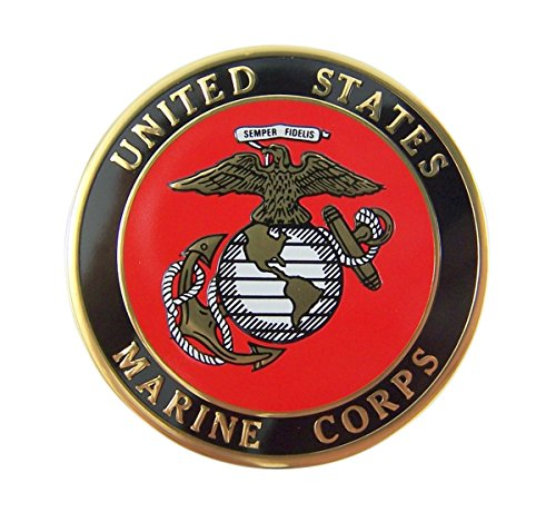 Marines Emblem - United States Marine Corps Military Metal Decal Emblem, 2 Inch