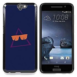 BullDog Case - FOR HTC ONE A9 - Cool Sun Summer Navy Blue - Dise???¡¯???¡Ào para el caso de la cubierta de pl???¡¯????stico Chicas