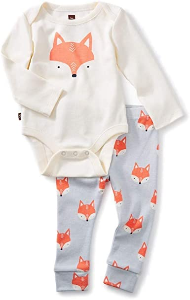 Red Fox Drinking Toddler Baby Long Sleeve Bodysuit Baby Clothes