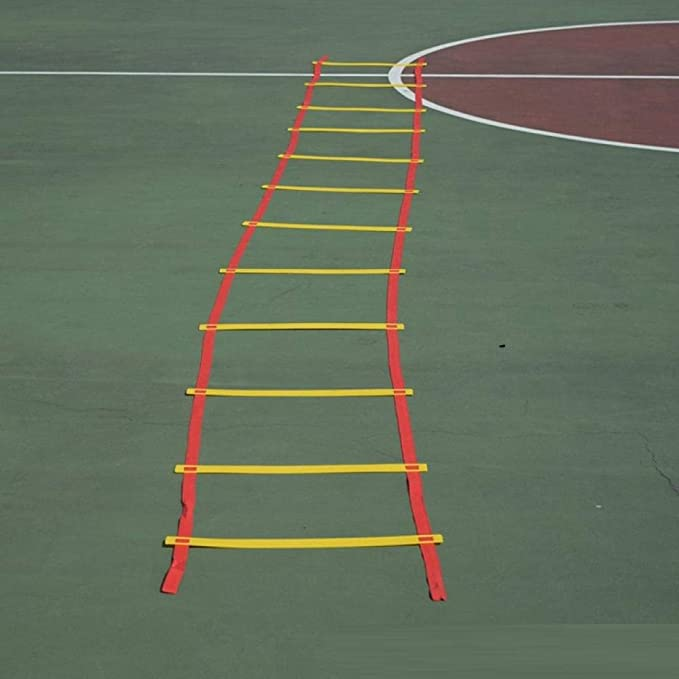escalera de agilidad Educación de la primera infancia equipo sensorial entrenamiento físico rayuela juguetes para padres e hijos al aire libre saltando enrejado escalera ágil-5 metros y 10 nudos: Amazon.es: Deportes y