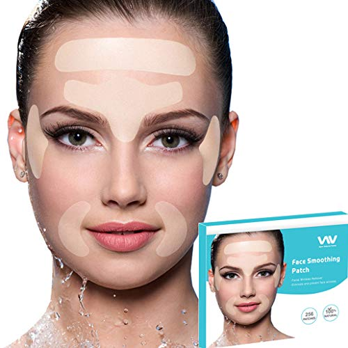 Facial Wrinkle Remover Strips, Set of 256pcs Facial Patches, Reusable Face Tape Smoothing Wrinkle Patches for Reducing Forehead Eye and Around Mouth & Upper Lip Wrinkles, All in One Wrinkle Treatment (Best Cream For Wrinkles Around The Mouth)