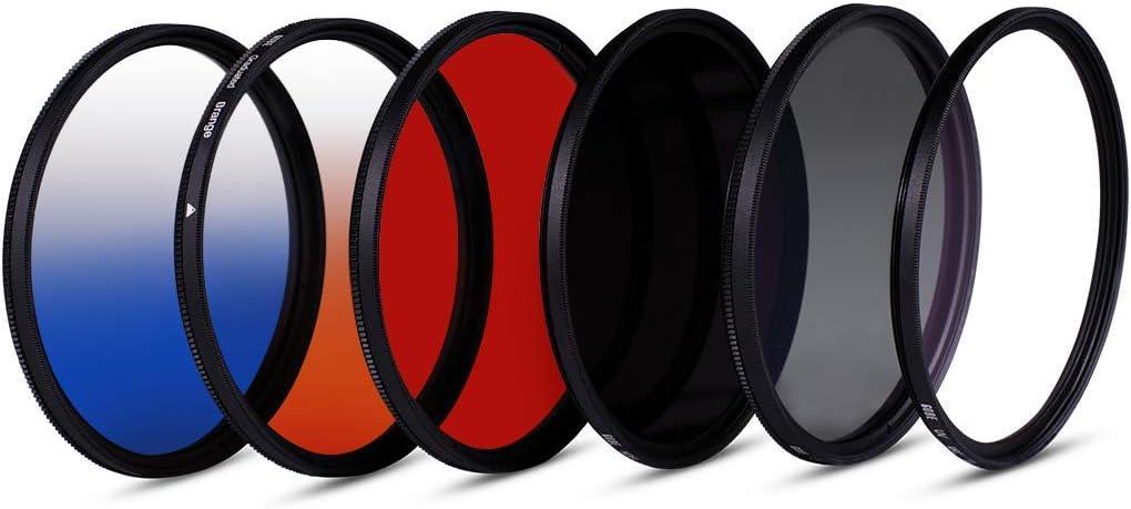 ND64 Circular Polarizing Red Graduated Orange 1Peak Gobe 46mm UV Graduated Blue Lens Filter Kit