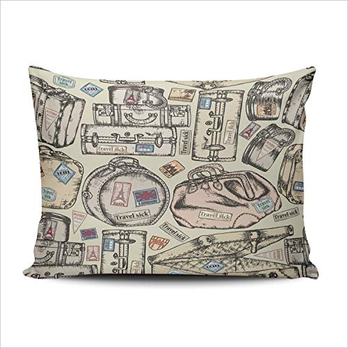 AIHUAW Home Decorative Cushion Covers Throw Pillow Case Seismogram for Seismic Measurement Pillowcases Queen 20x30 Inches One Sided Printed (Set of 1) (Graph Paper With Numbers Up To 30)