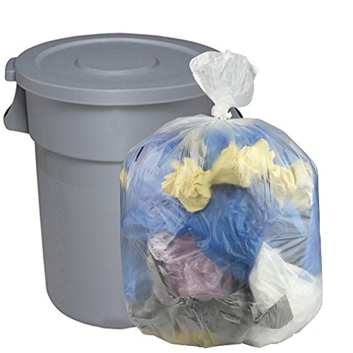 Clear Large Garbage Bags - 8