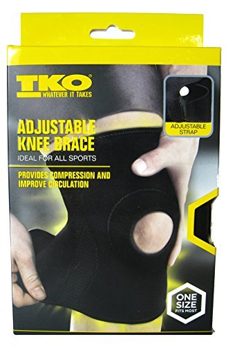 TKO Adjustable Knee Brace For All Sports.One size Fits Most by TKO