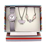 The Olivia Collection Kids Crown Watch & Jewellery Gift Set For Girls KS003