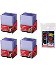 """Ultra Pro 3"""" x 4"""" Clear Regular Top Loaders - 100 Total + Ultra Pro Clear Soft Sleeves - 100 Total"""