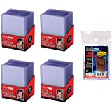 """UltraPro 3"""" x 4"""" Clear Regular Top Loaders - 100 Total + Ultra Pro Clear Soft Sleeves - 100 Total"""