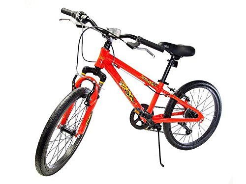 Ryda Bikes Comet - 20'' Red Youth Boys Bike - 7 Speed All Purpose Bicycle for Kids with Flat Proof Tires